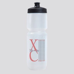 XC Run Red Gray Sports Bottle