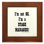 I am a Stage Manager for light products Framed Til