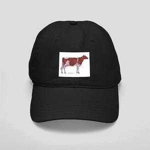 Red and White Holstein Milk Cow Black Cap