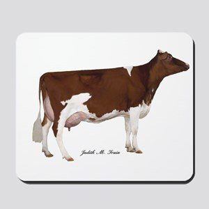 Red and White Holstein Milk Cow Mousepad