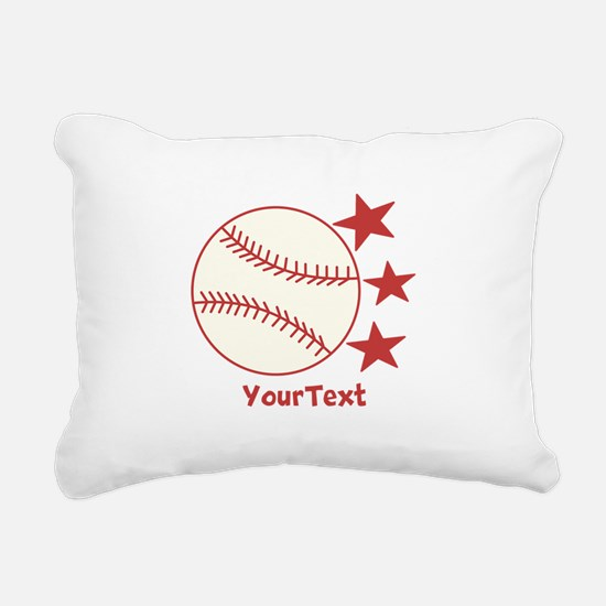CUSTOMIZE Baseball Rectangular Canvas Pillow