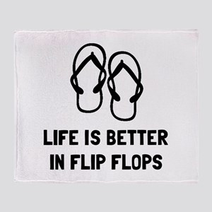 Better Flip Flop Throw Blanket