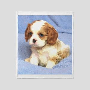 Cavalier Puppy Wilmington Throw Blanket