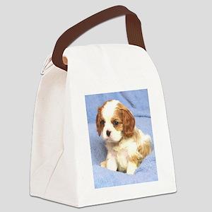 Cavalier Puppy Wilmington Canvas Lunch Bag