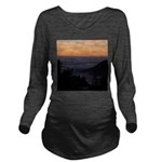 Sunset at Shelter Cove Long Sleeve Maternity T-Shi