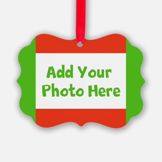 CUSTOMIZE With Your Photo Holiday Ornament