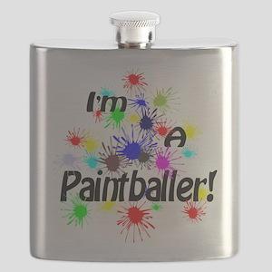 Paint Ball Design Flask