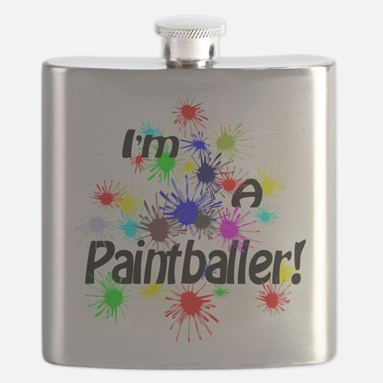 Paint Ball Design Flask