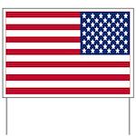 Reversed American Flag Yard Sign