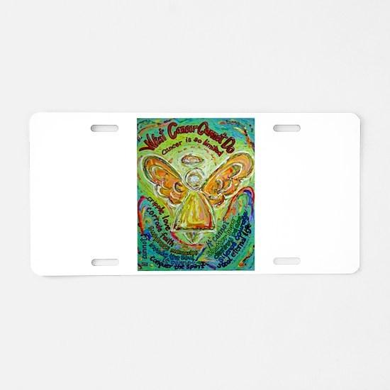 Rainbow Cancer Angel Aluminum License Plate