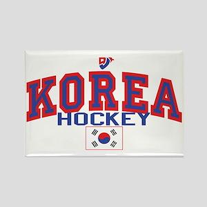 KR Korea Korean Hockey Rectangle Magnet