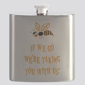 Bee With Us Flask