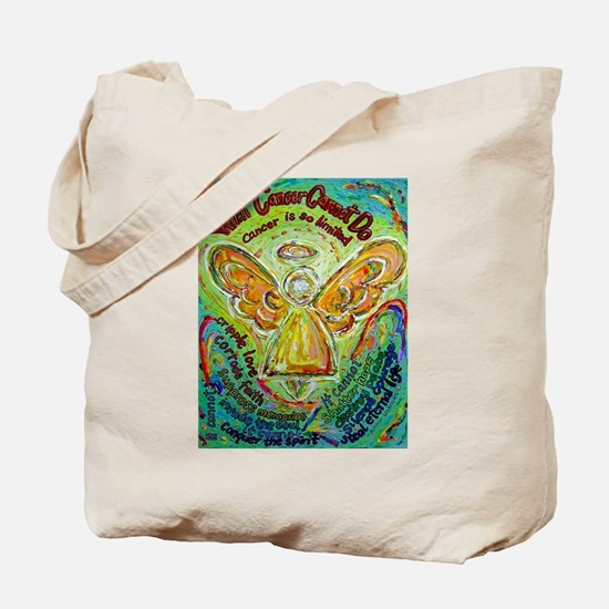 Rainbow Cancer Angel Tote Bag