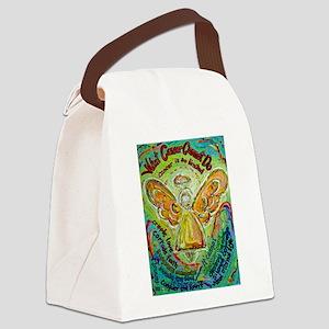 Rainbow Cancer Angel Canvas Lunch Bag