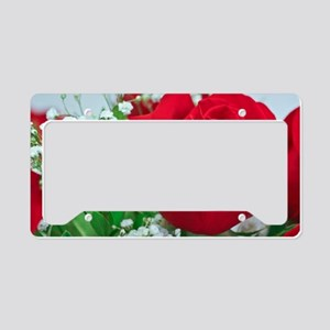 One Red Rose License Plate Holder