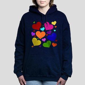 Rainbow Hearts Hooded Sweatshirt