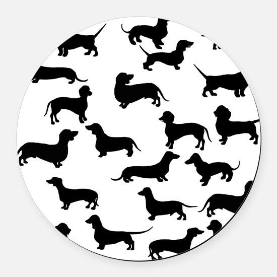 Dachshunds Round Car Magnet