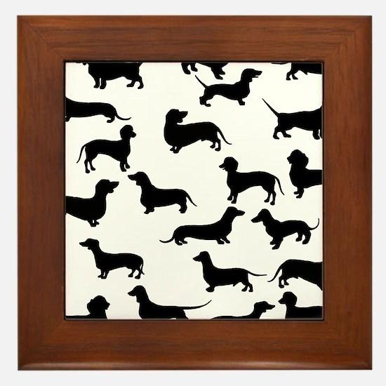 Dachshunds Framed Tile