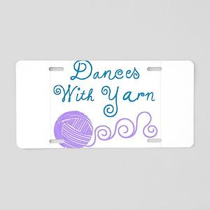 DancesWithYarnDark Aluminum License Plate