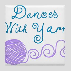 DancesWithYarnDark Tile Coaster