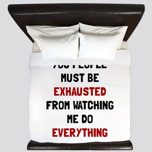 Exhausted King Duvet