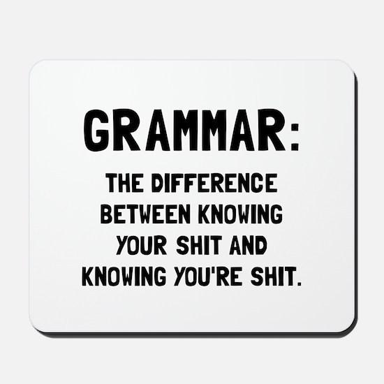 Grammar Shit Mousepad