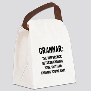 Grammar Shit Canvas Lunch Bag