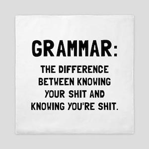Grammar Shit Queen Duvet