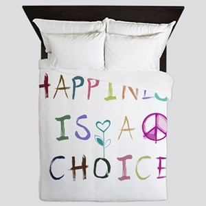 Happiness Is A Choice Queen Duvet
