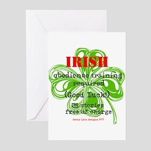 Funny irish greeting cards cafepress funny irish bs greeting cards pk of 10 m4hsunfo