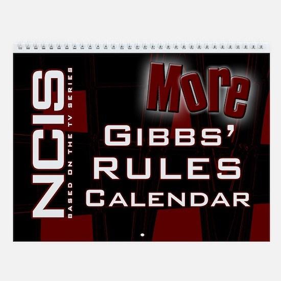 NCIS More Gibbs' Rules Wall Calendar
