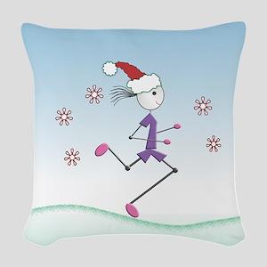 Holiday Girl Runner Woven Throw Pillow