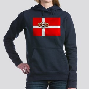 Danish Football Flag Hooded Sweatshirt