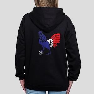 France Le Coq Women's Zip Hoodie Sweatshirt