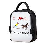 I Love Pony Power Neoprene Lunch Bag