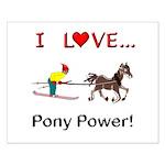 I Love Pony Power Small Poster
