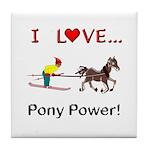 I Love Pony Power Tile Coaster