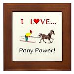 I Love Pony Power Framed Tile