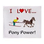 I Love Pony Power Throw Blanket