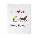 I Love Pony Power Twin Duvet