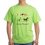 I Love Pony Power Green T-Shirt