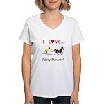 I Love Pony Power Women's V-Neck T-Shirt