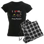 I Love Pony Power Women's Dark Pajamas