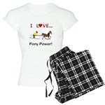 I Love Pony Power Women's Light Pajamas