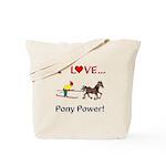 I Love Pony Power Tote Bag