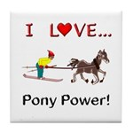 I Love Pony Power Tile Coaster