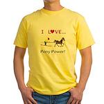 I Love Pony Power Yellow T-Shirt