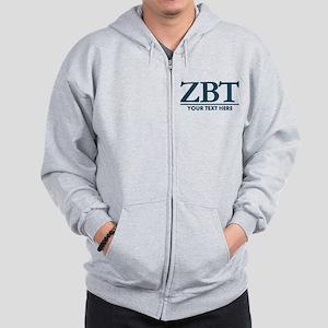 Zeta Beta Tau Fraternity Letters with P Zip Hoodie