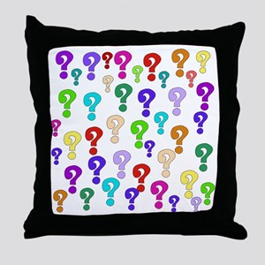 Rainbow Of Question Marks Throw Pillow