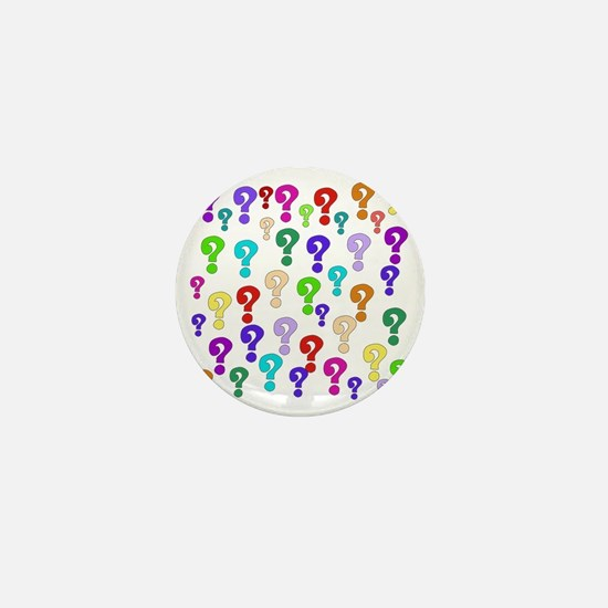 Rainbow Of Question Marks Mini Button